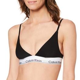 Calvin Klein Damen Triangle Unlined Triangel BH-Modern Cotton, Schwarz (Black 001), (Herstellergröße: M) - 1